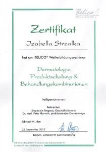 Zertifizierung Dermatologie und Produktschulung BELICO